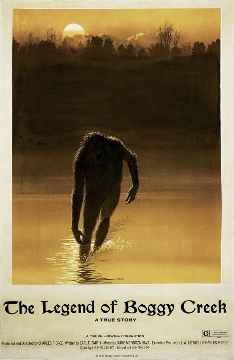 The Legend of Boggy Creek Original Oil on Canvas